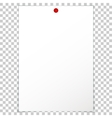 Blank album clean empty sheet paper A4 red pushpin vector image vector image