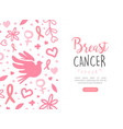 breast cancer landing page template women health vector image