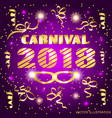 brightly colorful carnival 2018 vector image vector image
