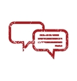 Chatting red grunge icon vector image vector image