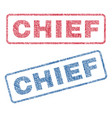 chief textile stamps vector image vector image