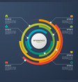 circle chart infographic template for data vector image vector image
