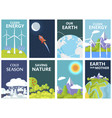 Clean energy and save earth our mother posters vector image
