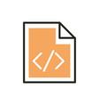 coding web development icon line and fill vector image