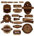 coffee company brown vector image vector image