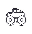 Cross country vehiclejeep line icon sign