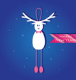 Cute Christmas card with a picture of a funny vector image