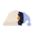 cute sleeping penguin in a hood vector image vector image