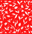 decorative tulips pattern seamless vector image vector image
