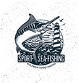 fishing logo blue marlin or swordfish icon vector image