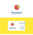 flat pie chart logo and visiting card template vector image vector image