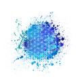 flower life grunge blue background vector image