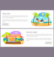 freelance and distant work web vector image vector image