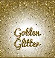 golden glitter background pink golden sparkling vector image vector image