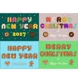 Greeting christmas and new year cards vector image