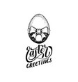 hand lettering easter greetings in drawn vector image vector image