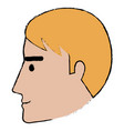 head profile man avatar character vector image vector image