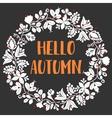 Hello autumn wreath card vector image vector image