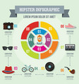hipster infographic concept flat style vector image