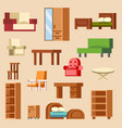 home interior furniture furnishings design vector image