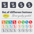 hourglass icon sign Big set of colorful diverse vector image vector image