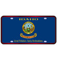 idaho state license plate flag vector image vector image