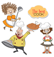 Items chefs collection isolated on white vector image vector image