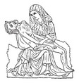 ivory carving is the carving of ivory vintage vector image vector image