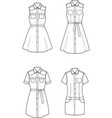 jean dress set vector image vector image
