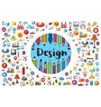 logo designer and artist vector image