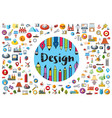 logo of the designer and artist vector image