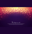 luxurious bokeh glitter background vector image
