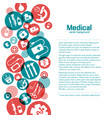 medical science poster vector image vector image