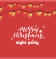 merry christmas night party lighting background vector image vector image