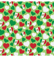 mexican heart pattern vector image vector image