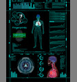 Modern medical examination style hud