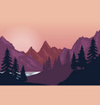 mountain landscape in flat style design element vector image vector image