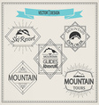 mountain logos and emblems vector image