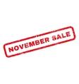 November Sale Rubber Stamp vector image vector image