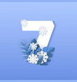 numeral 7 natural winter vector image vector image