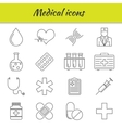 Outline icons set Medical icon vector image vector image