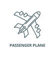 passenger plane line icon linear concept vector image vector image