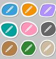 Pencil sign icon Edit content button Multicolored vector image