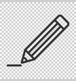 pencil with rubber eraser icon in flat style vector image