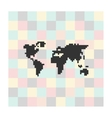 pixel icon map on a square background vector image vector image