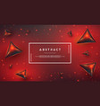 red abstract background with 3d style vector image