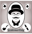 Retro gentleman face and accessories isolated vector image vector image