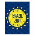 Round grunge label - Brazil 2014 vector image vector image