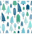 seamless pattern winter forest vector image