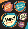 Set of retro labels stickers and badges vector image